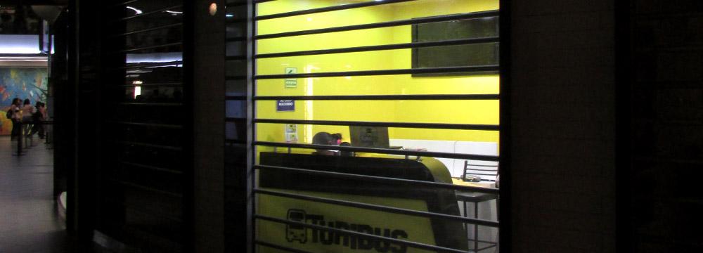 Puerta Enrollable Polivista Cassadó instalada en TURIBUS en el Larcomar