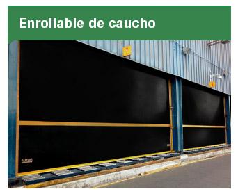 La puerta Enrollable de Caucho fue ideada para operaciones expuestas a polución y corrosión tales como la industria minera, cementera o marina.