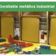 Enrollable metálica industrial posee un robusto diseño y configuración. Es el cierre más confiado en el mercado industria y minero del Perú.
