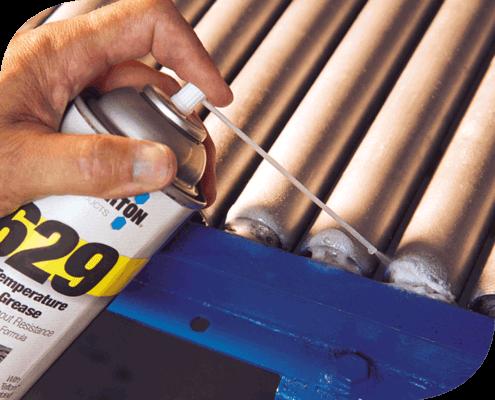 629 Grasa Blanca para alta temperatura, de aceite mineral fortificada con polvo PTFE micronizado para aplicaciones alimenticias.