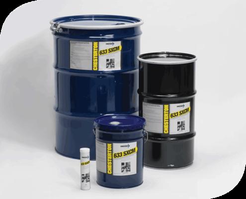 633 SXCM Chesterton, es una grasa sintética reforzada con bisulfuro de molibdeno para aplicaciones de alta carga.