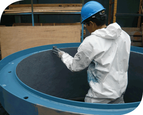ARC BX2. Fórmula epóxica modificada, reforzada con una mezcla patentada para entornos de desgaste abrasivo por deslizamiento debido a partículas finas.